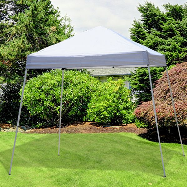 Outsunny 8.2x8.2ft Easy Pop Up Canopy Party Tent Outdoor Shelter w/Slant Leg |Aosom.ca