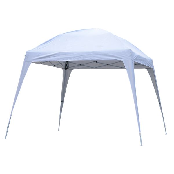 Outsunny 9.75x9.75ft Pop Up Canopy Tent Slant Legs White|AOSOM.CA