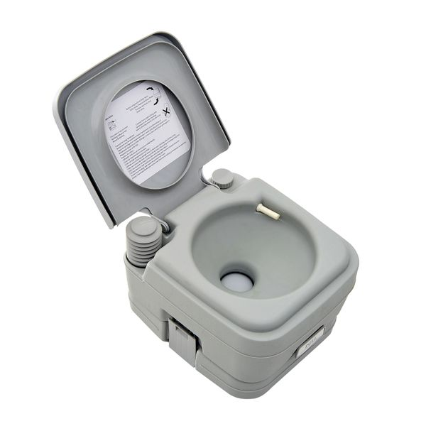 Outsunny HomCom Portable Travel Camping Toilet Outdoor Hiking - 2.8 Gallon Hilking New AOSOM.CA