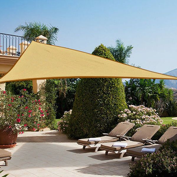 Outsunny Sun Shade Sail Triangle 16.4ft UV Top Outdoor Lawn Patio Shelter Canopy|Aosom.ca