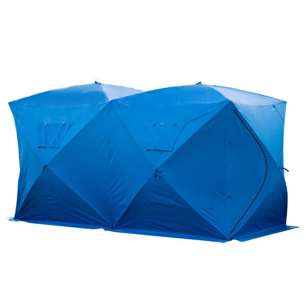"""Outsunny Fishing Tent Pop-up Ice Shelter 142"""" x 71"""" 5-8 Person Outdoor Portable Fishing Tent