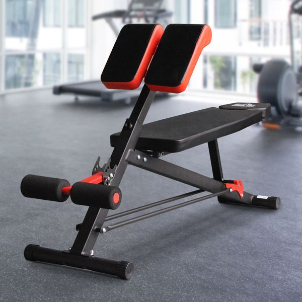 Soozier Upgraded Multi-Functional Hyper Extension Dumbbell Bench Adjustable Roman Chair