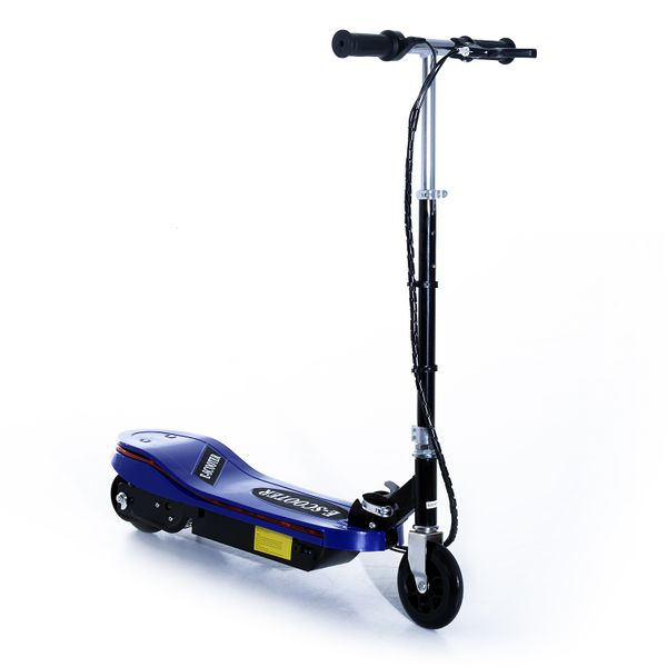 Qaba Adjustable Folding E-Scooter with LED Light Battery Powered Motorized Bike Electric Scooter 24V 4.5AH for Teens Blue|Aosom Canada