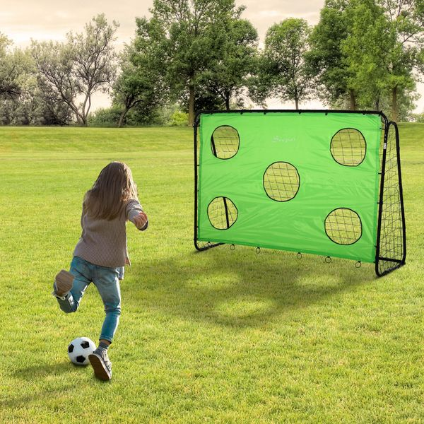 Soozier Target Goal Football Goal Indoor Outdoor Backyard with All Weather PE Net Best Gift  7.9ft x 2.9ft x 5.6ft | Aosom Canada