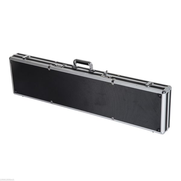 "HOMCOM 43.7"" Hard Gun Guard Case Rifle Storage Travel Carry Pistol Handgun Shotgun Lockable Black 