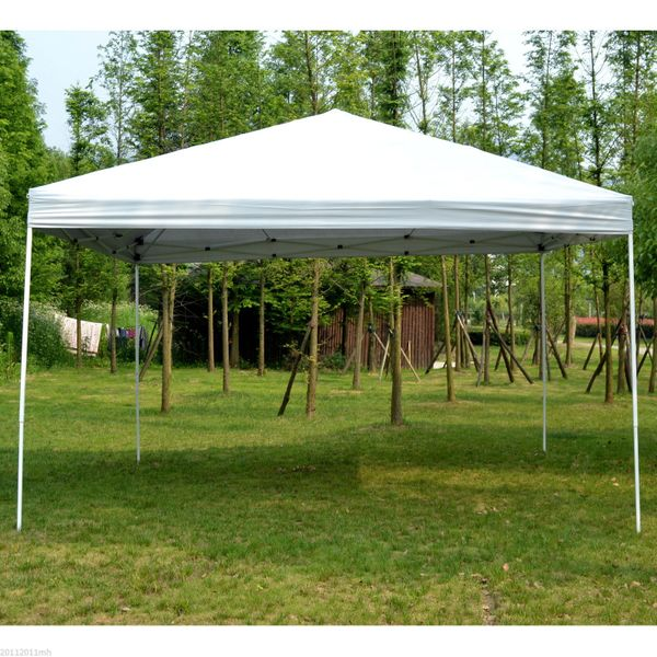 Outsunny Impact Instant Canopy Tent 13x13ft Large Pop Up Outdoor Party Gazebo Patio Sun Shade Instant Market Shelter White | Aosom Canada