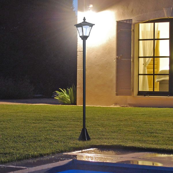Outsunny Single Solar Lamp Post 8-10 hours with Base Aosom Canada