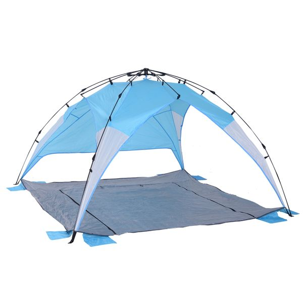 Outsunny Portable Automatic Pop Up Beach Tent UV Protection w/ Carry Bag|AOSOM.CA
