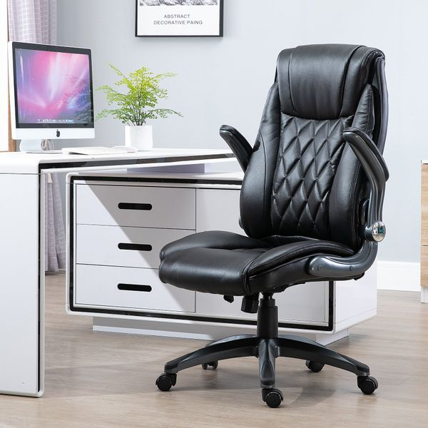 Vinsetto Adjustable Height Office Chair 360° Smooth Rotating With Headrest | Aosom Canada