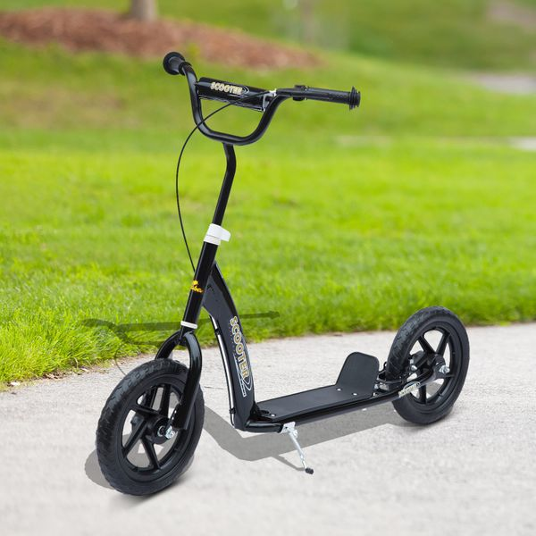 "Homcom Adjustable Kids Pro Stunt Scooter Children Street Bike Bicycle Ride On with 12"" Tire (Black) 