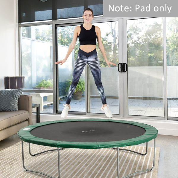 HOMCOM Φ12ft Trampoline Pad Spring Safety Replacement Gym Bounce Jump Cover EPE Foam Green | Aosom Canada