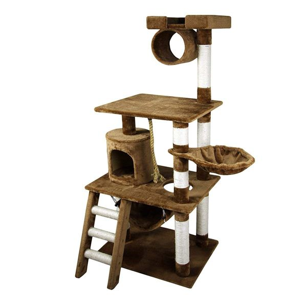"PawHut 61"" Cat Tree Pet Furniture Kitty Pet House Condo Scratcher Post Ladder Tower Climbing Toy New Quality