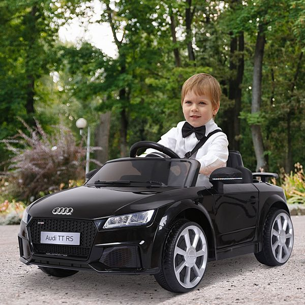 Aosom Electric Ride On Cars Licensed Audi Kids Ride-On Car 12V with Remote Control Suspension Wheel Adjustable Speed Black|Aosom Canada