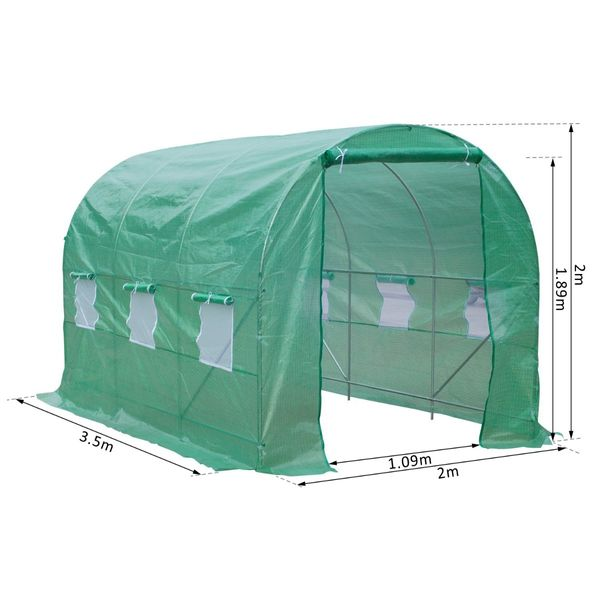 Outsunny 11.5' x 6.7' x 6.7' Walk-in Greenhouse Garden Plant Seed Growing Warm House|Aosom Canada