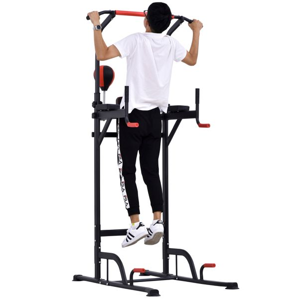 Soozier Pull Up Bar Power Tower Station for Home Office Gym Traning Workout Equipment | Aosom Canada