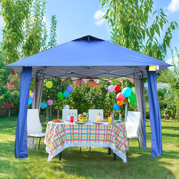 Outsunny 11'x11' Instant Pop-up Party Tent Outdoor Activity Canopy Sun Shade Gazebo Shelter w/ Carrying Bag | Aosom Canada