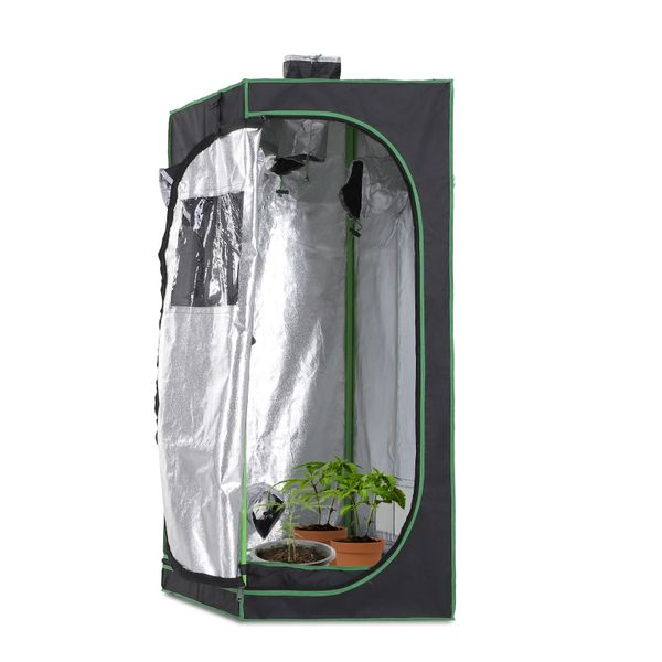 Outsunny Hydroponic Plant Grow Tent Reflective Mylar Obeservation Window Indoor Floor Tray | Aosom Canada
