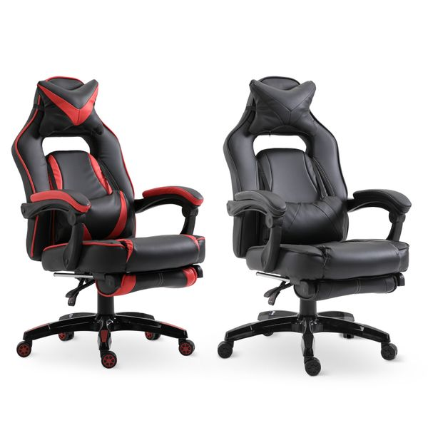 Vinsetto High Back Gaming Chair w/ Retractable Footrest|Aosom Canada