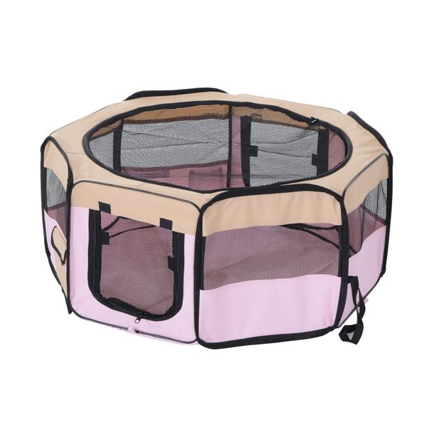 "Pet Play Pen 37.4"" Playpen Exercise Dog Puppy Cat Fence Portable Foldable Design 