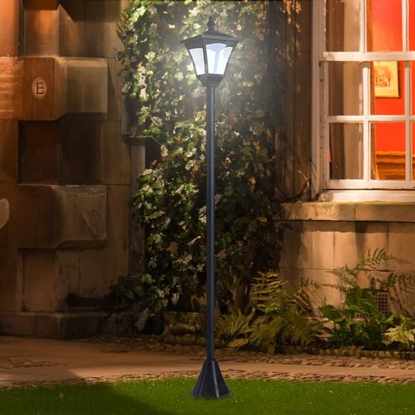 Outsunny Single Solar Lamp Post 8-10 hours with Base | Aosom Canada