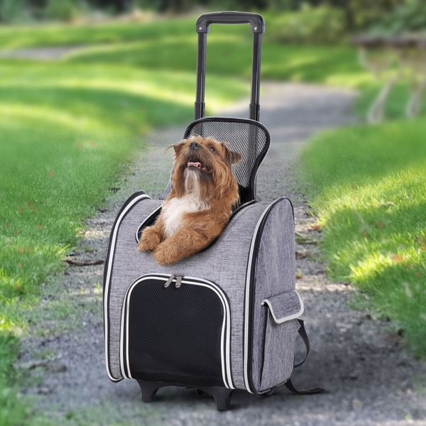 PawHut Pet Carriers Luggage Bag Outgoing Travel Multi-way to carry Portable|AOSOM.CA