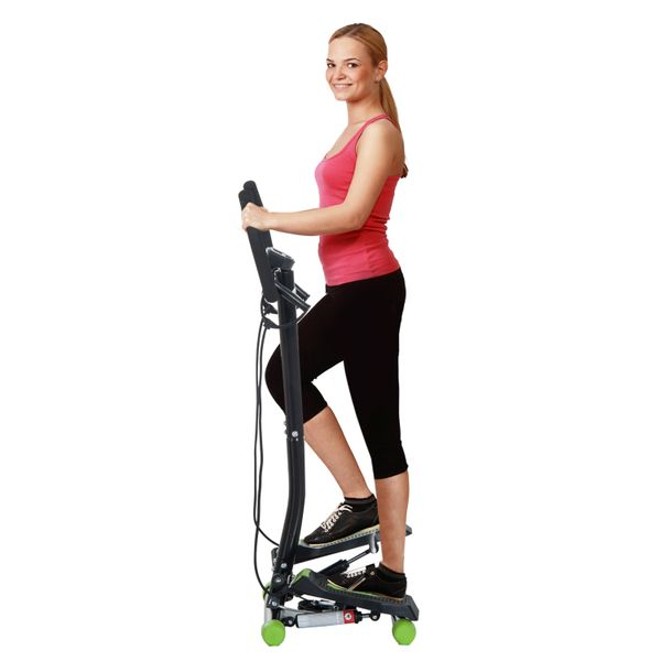 Soozier Adjustable Twist Stepper w/ LCD Monitor and Ropes Aerobic Body Workout Fitness Machine Home Gym Mini Twister|Aosom Canada
