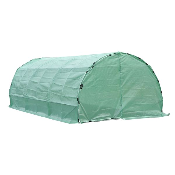 Outsunny Greenhouse Vegetable Plants Growing Outdoor House 20ᄀᆵx10ᄀᆵx7ᄀᆵ Heavy Duty Walk-in Reinforced Steel Greenhouse | Aosom Canada