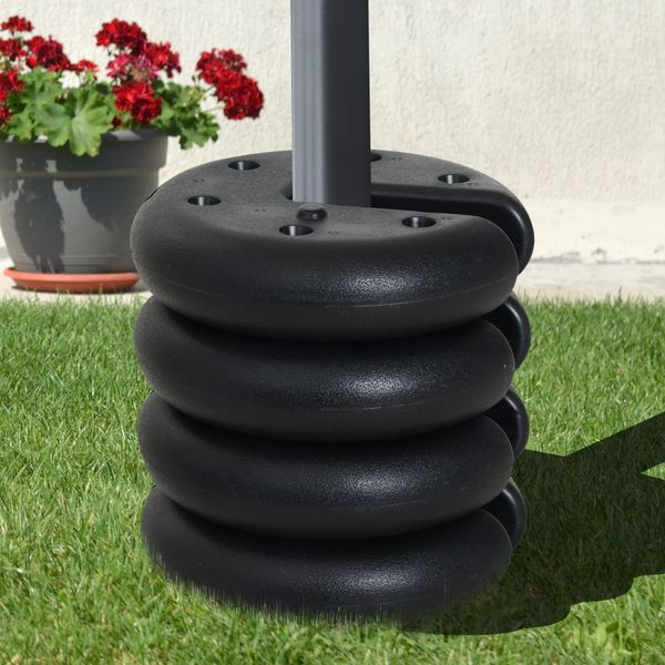 Outsunny Set of 4 Canopy Weight Plate Kit Water Sand Filled|AOSOM.CA