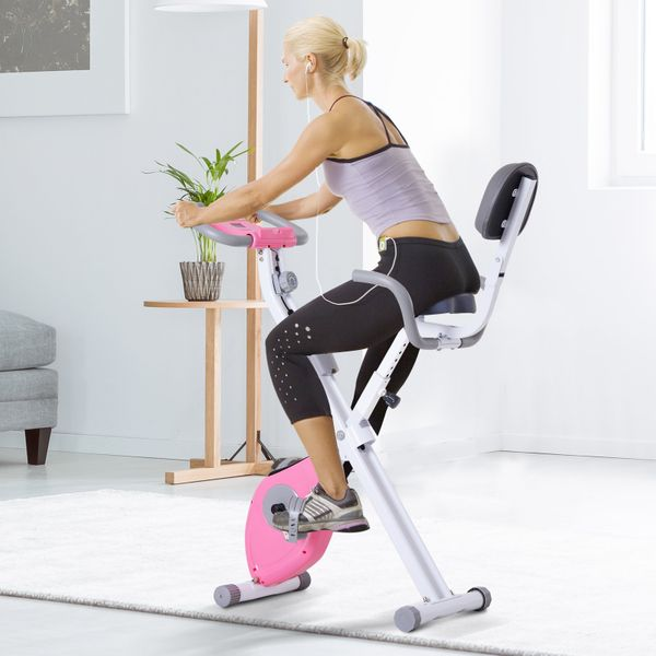 Soozier Indoor Magnetic Upright/ Recumbent Exercise Bike with Tablet Holder | Aosom Canada