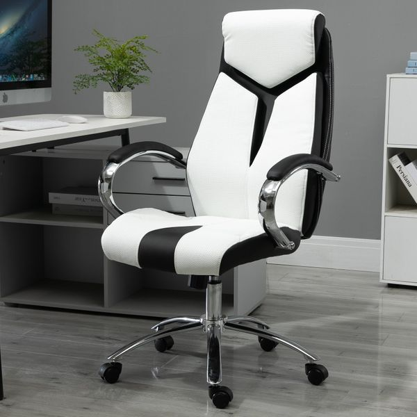 Vinsetto Ergonomic PU Office Chair with Headrest Height Adjustable Leather | Aosom Canada