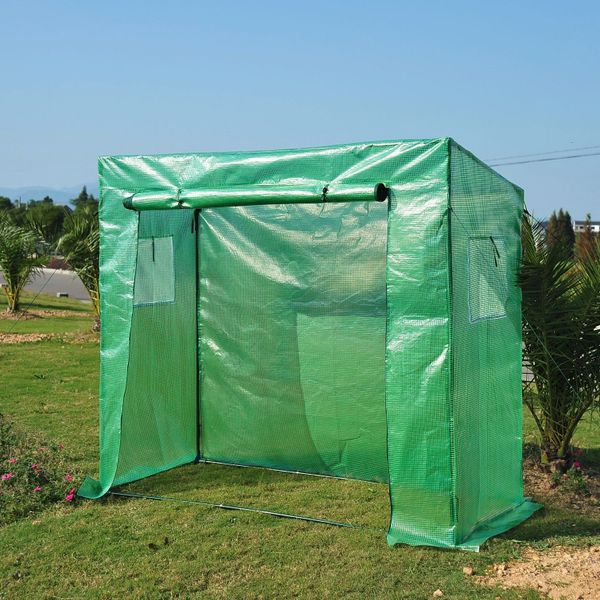 Outsunny 6.5'x2.5'x5.5' Walk-in Garden Greenhouse with Durable Frame Outdoor Garden Tomato Plant House | Aosom Canada