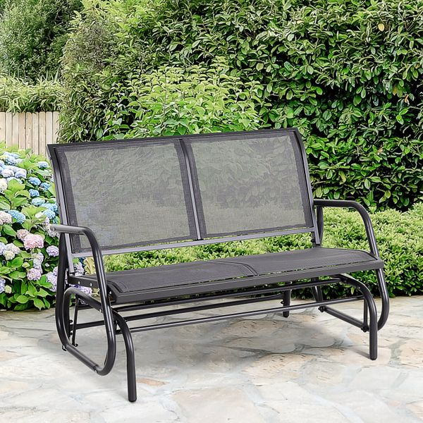 Outsunny HOMCOM Double 2 Person Swing Chair Rocking Bench