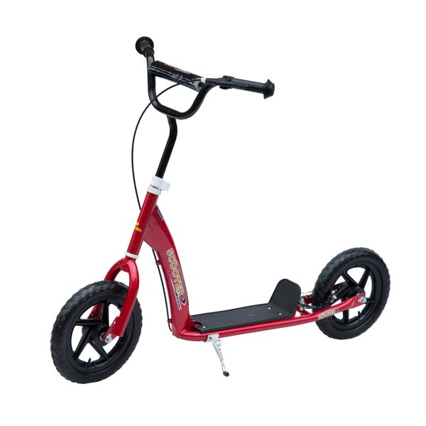 Homcom Adjustable Kids Pro Stunt Scooter Outdoor Children Street Bike Bicycle with 12ᄀᄆ Tire Red | Aosom Canada