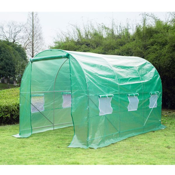 Outsunny 11.5' x 6.7' x 6.7' Walk-in Greenhouse Garden Plant Seed Growing Warm House | Aosom Canada