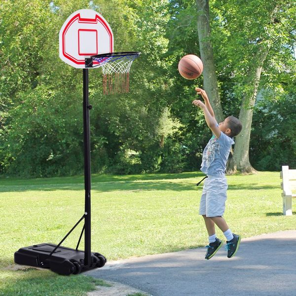 Soozier Junior Basketball Stand System Portable Adjustable W/ Wheels Height Multi-color|Aosom Canada