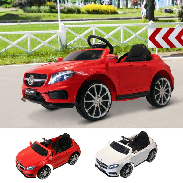 6V Kids Licensed Mercedes Benz Ride On Car High/Low Speed Headlight Music|Aosom Canada