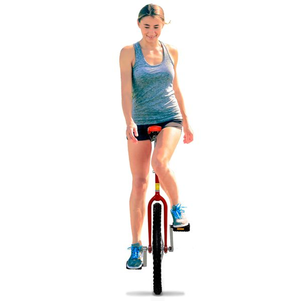 """Soozier 20"""" Inch Wheel Unicycle Cycling Pedal Balance Car with Parking Rack for Outdoor Sports Exercise"""