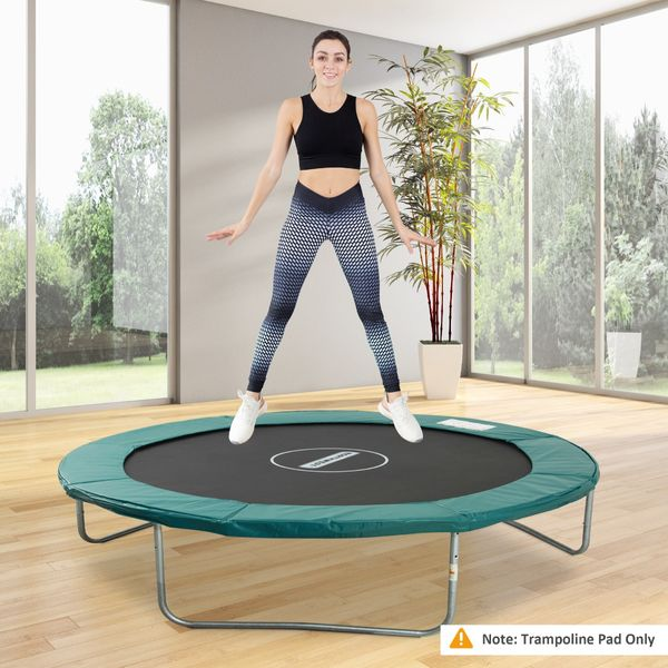 HOMCOM 14FT Trampoline Pad Trampolining Replacement Jump Bounce Exercise GYM (Green) Aosom Canada