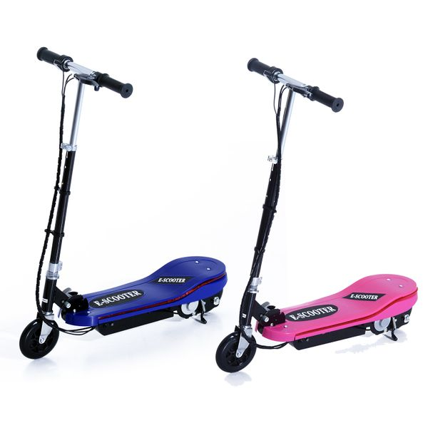 Qaba Electric Scooter Folding High Performance for Teens Pink | Aosom Canada