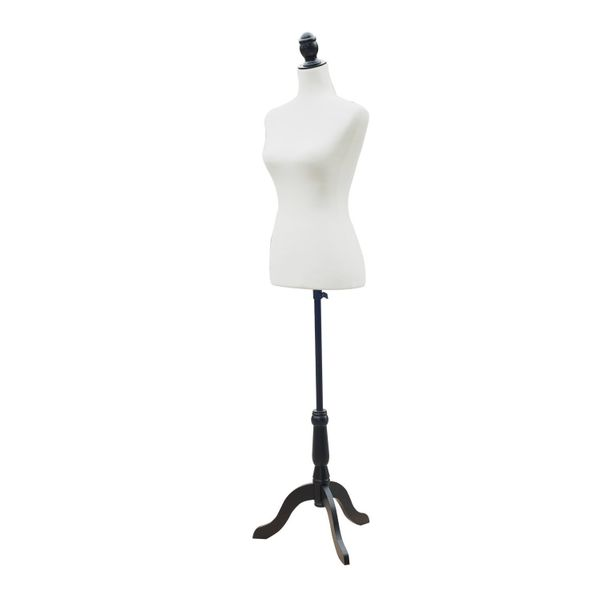 HOMCOM Sewing White Female Mannequin Torso Dress Form Torso Dressmaker Stand Display Fashion Clothing   Base Tailor Tripod White M|Aosom Canada