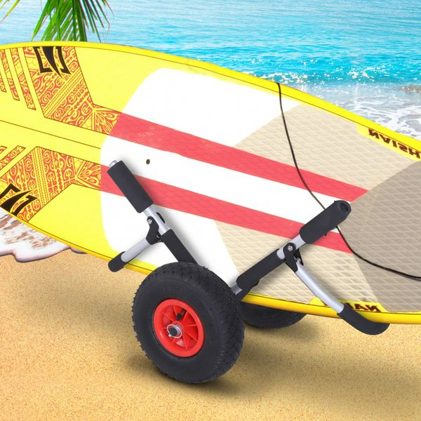 Outsunny Surfboard Trolley Foldable Surfboards Cart Rolling Cart for SUPs Easy Transport | Aosom Canada