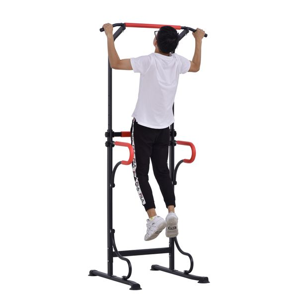 Soozier Pull Up Bar Power Tower Station for Home Gym Traning Workout Equipment | Aosom Canada