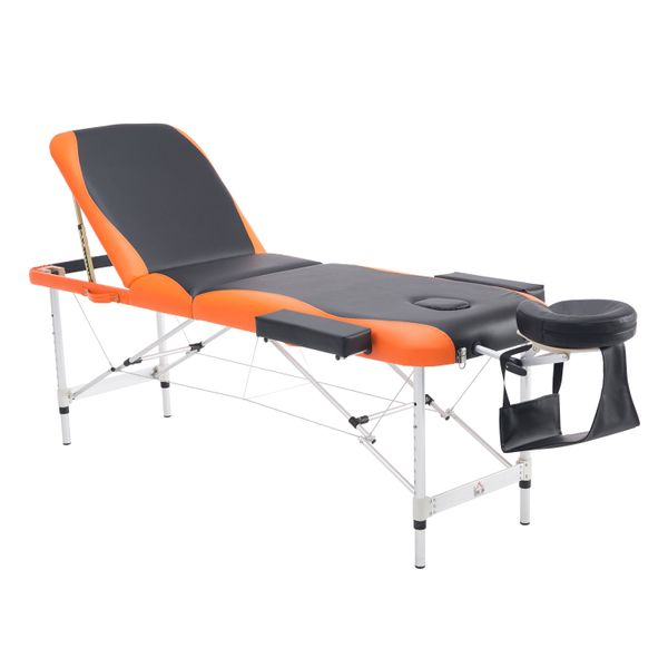 HOMCOM Massage Table Salon Spa Bed Tattoo 3pc Portable Facial Spa Sheet w/Headrest Free Carry Case |Aosom.ca