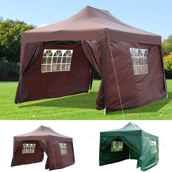 Outsunny 10x15ft Pop up Gazebo Portable Folding Outdoor with Carry Case | Aosom Canada