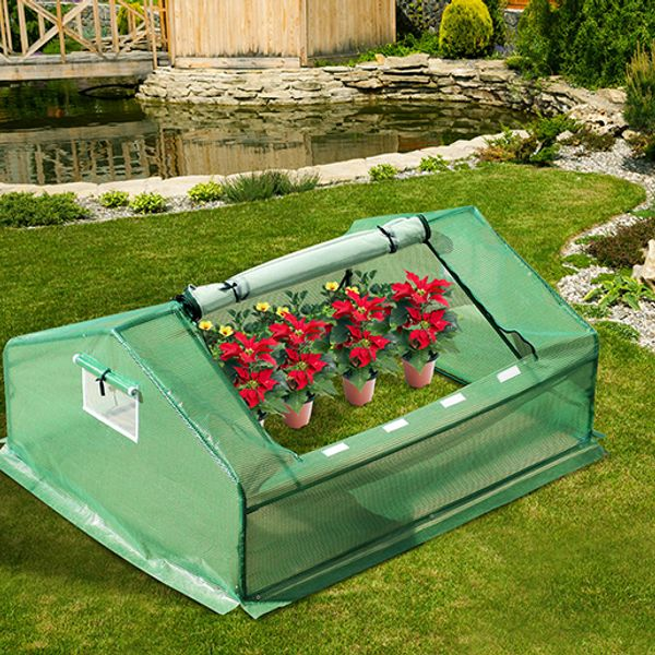 Outsunny Steel Mini Greenhouse 5.9'  x 4.6' With Zipper|AOSOM.CA