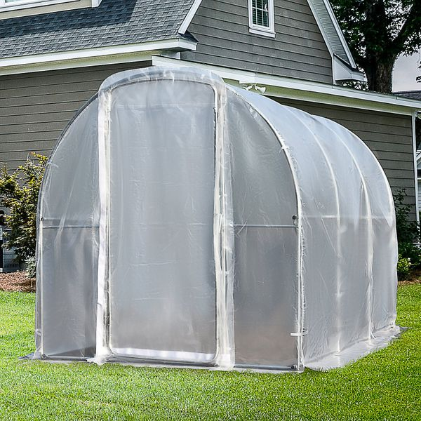 Outsunny Polytunnel Greenhouse Outdoor Walk-In|AOSOM.CA