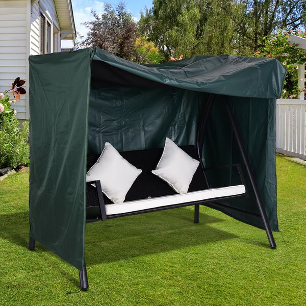 Outsunny Large Patio Swing Chair Cover Outdoor Garden Furniture Protector Wind UV Water Green | Aosom Canada