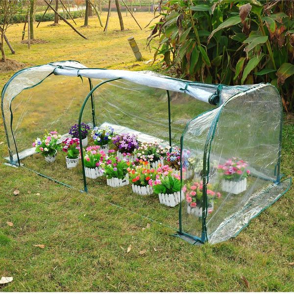 Outsunny Portable Tunnel Plant Transparent Greenhouse | Aosom Canada
