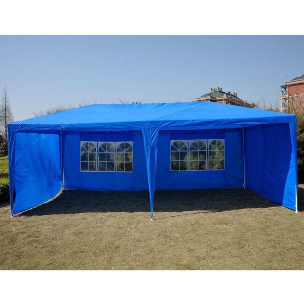 Outsunny Party Tent 20'x10' Blue | Aosom.ca