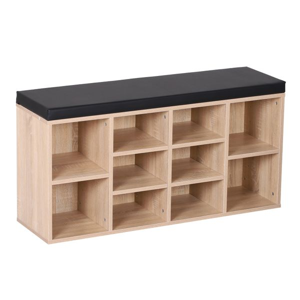 HOMCOM Multi-Function Shoes Bench Shoes Bench Ample Storage Height Adjustable Compartment|AOSOM.CA
